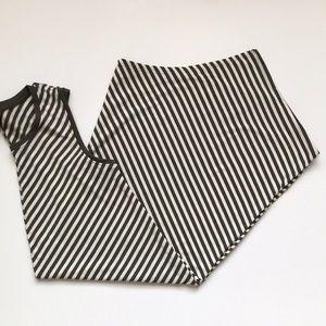 Mossimo Olive Green/White Stripe Sleeveless Dress